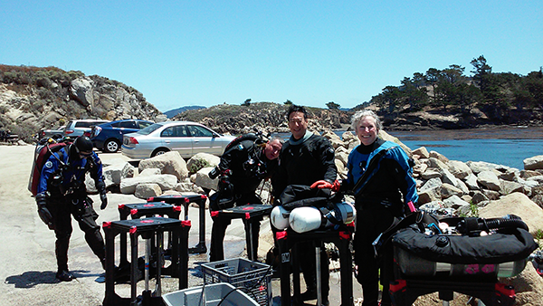Divers at Whaler's Cove