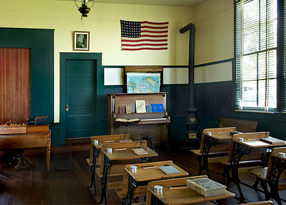 Allensworth Schoolhouse Interior