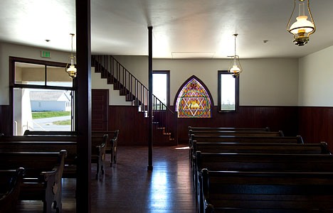 Baptist church interior