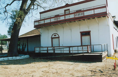 Recently restored Pío Pico Adobe Ranch, August 2002