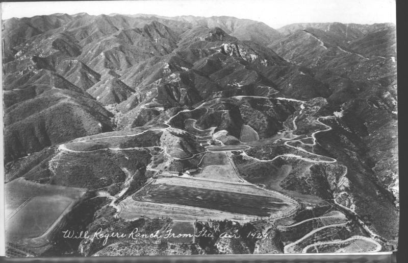 Aerial of Will Rogers State Historic Park (circa 1929)