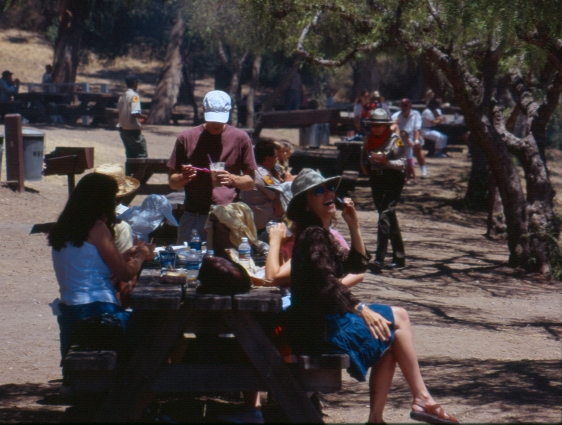 The BBQ area at WRSHP was the perfect place to meet and enjoy the food concessions.