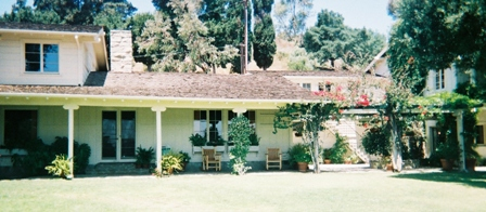 Porch View of Will Rogers Western Ranch House
