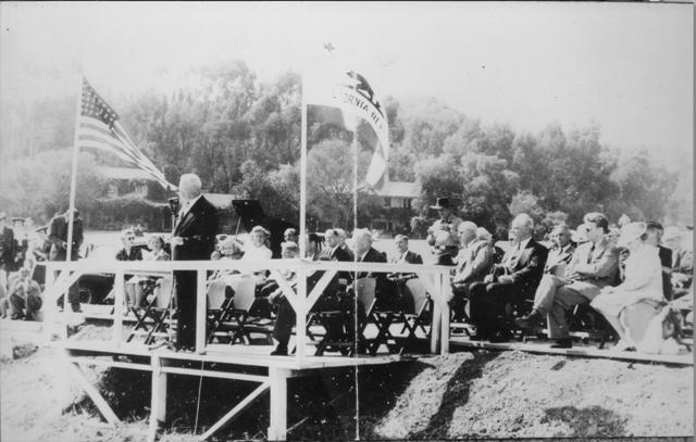 October 1, 1944  Park Dedication with Earl Warren