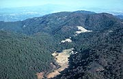 """Photo: Landscape view of the mountain from the air over Palomar Mountain State Park """