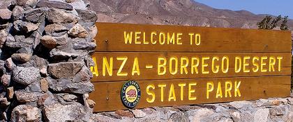 Image: Anza-Borrego Desert State Park -- Park Entrance Sign