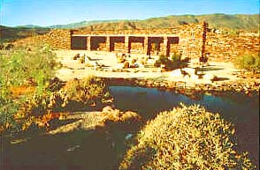 Photo: Exterior view of the Visitor Center and grounds at Anza-Borrego Desert State Park