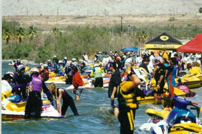 Personal watercraft racing at Salton Sea