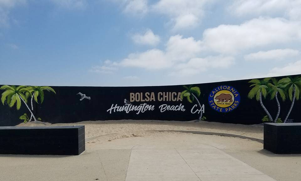 Bolsa Chica/Huntington Beach sign