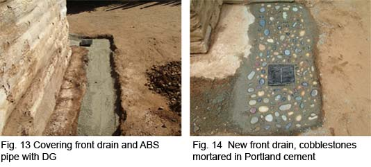 Covered front drain