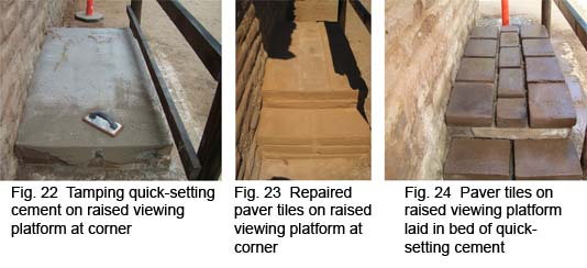 Repair process of the raised viewing platforms