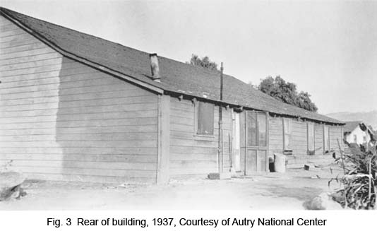 Rear of building, 1937