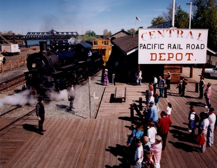 Central Pacific Depot in Old Sacramento