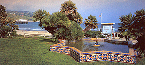 The Star Fountain at the Adamson House is detailed with world famous Malibu Tile.