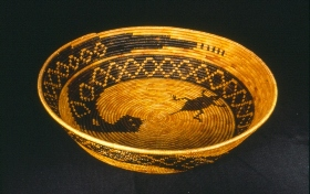 California Indian Basket from Luiseno Tribe