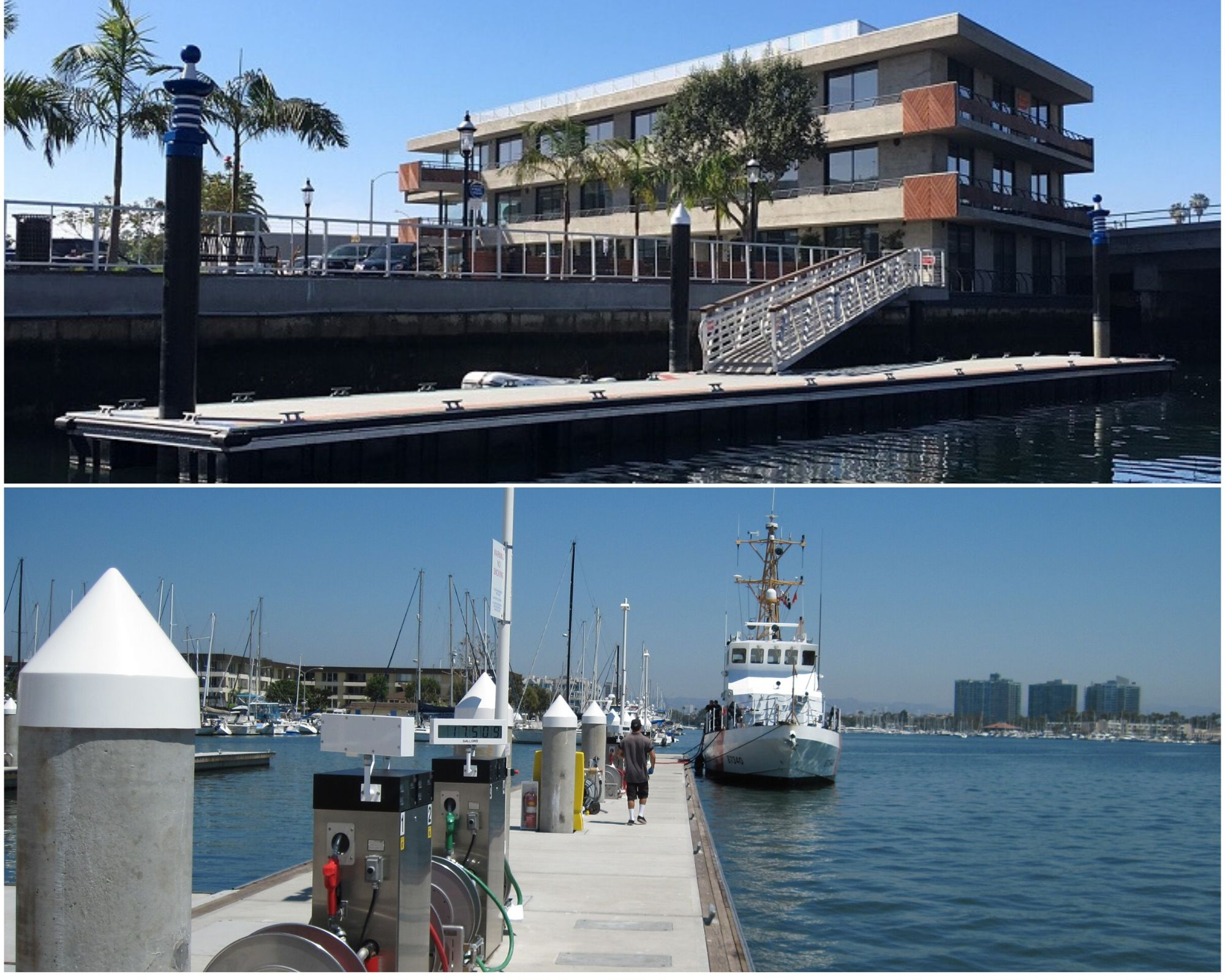 Newport Beach and Marina del Rey