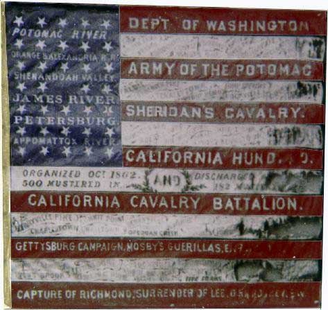 Flag of the California 100, presented after the war.