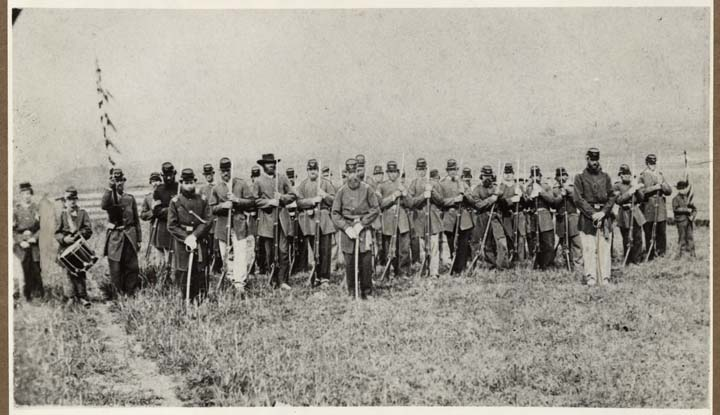 Company of Soldiers Organized in Hayward, ca. 1861