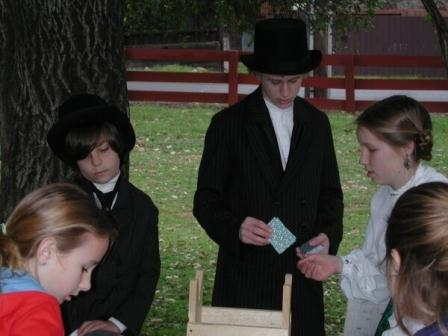 Students serving as living history docents, Shasta State Historic Park