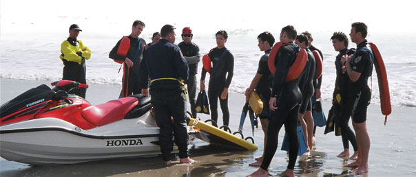 Lifeguard Personal Water Craft Rescue training session.