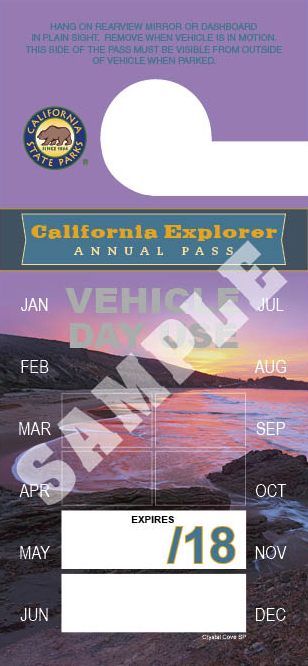 """California Explorer"" Vehicle Day Use Annual Pass image"