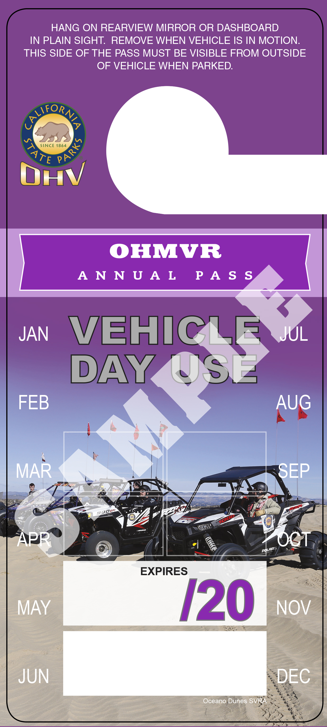 Annual OHV Vehicle Pass image