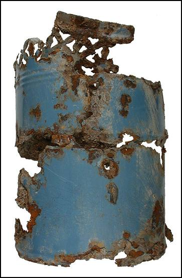 Remains of a portable kerosene heater