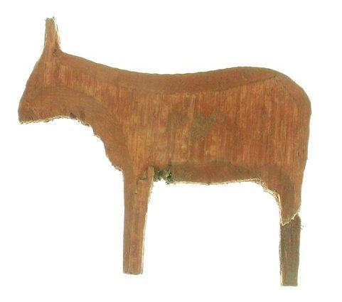 "Small Wooden Animal from the San Juan Bautista ""cuartel."""