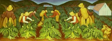 State Museum Resource Center: painting of workers picking artichokes