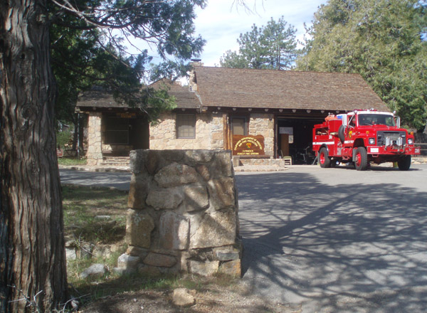 Cuyamaca Rancho State Park firehouse in 2008, built by CCC in 1930s