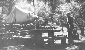 Campsite at Doane Valley, 1935