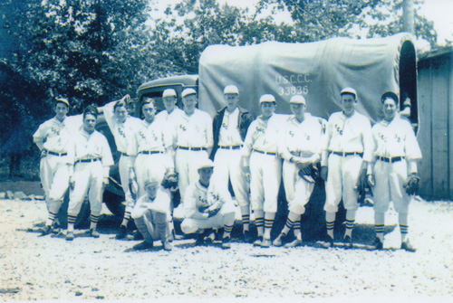 Humboldt Redwoods CCC camp baseball team