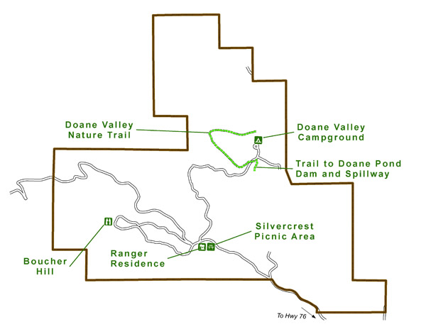 Palomar Mountain State Park CCC tour map