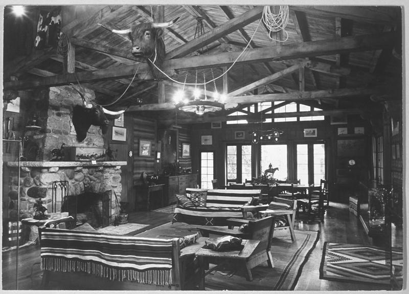 Inside Will Rogers Ranch House (1935)
