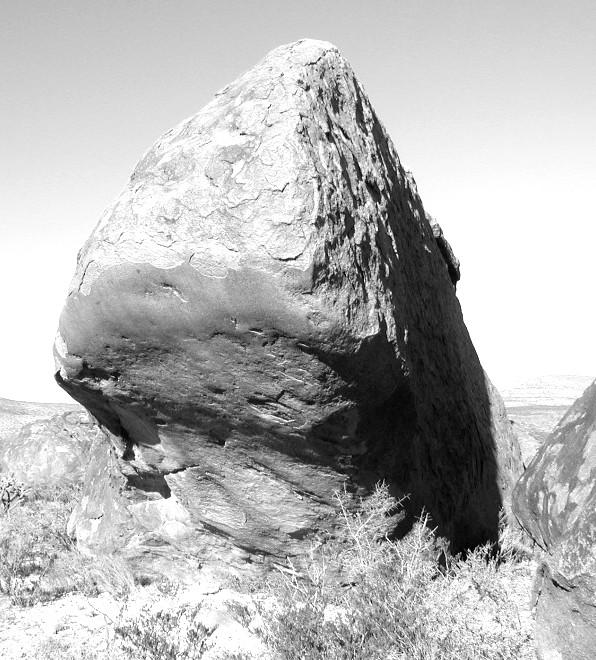 Rubbing Rock at Cornudas Mountain, New Mexico. Photo by LeRoy Unglaub, 2002.