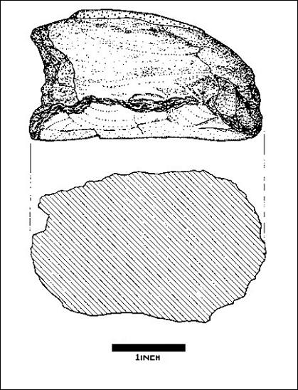 Illustration of hammerstone