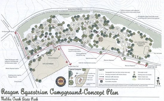 Proposed Ronald Reagan Equestrian Campground Concept Plan