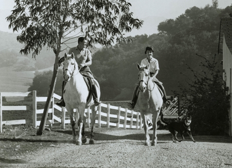 Ronald Reagan and Nancy riding at their Malilbu Ranch in 1958, site ot the proposed Ronald Reagan Equestrian Campground.  Photo Courtesy of the Reagan Family.