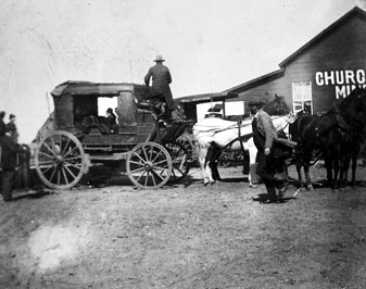 Stagecoach at Milton, California