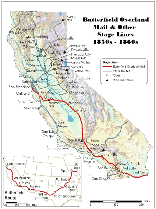 Stagecoach History: Stage Lines to California