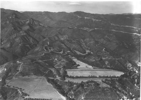 1920s Aerial photo of Will Rogers Ranch