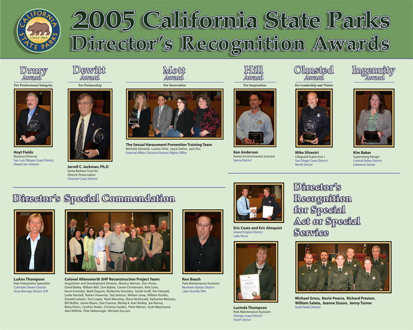 2005 Awards (click to enlarge)