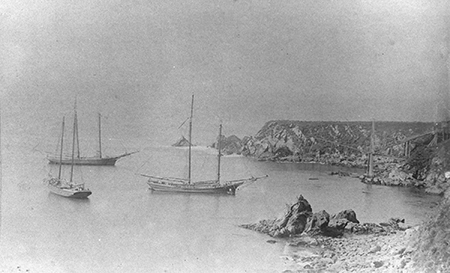 Historic image of Ft. Ross cove