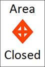 Closed area marker