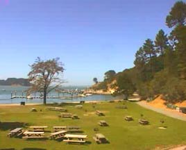 Thumbnail: View of Ayala Cove from Visitor Center