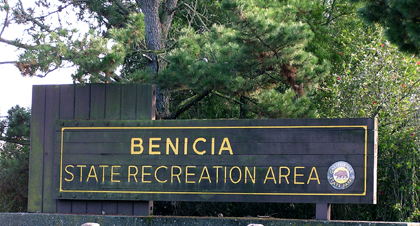 Entrance sign for Benicia SRA
