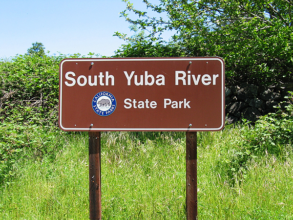 South Yuba River State Park Entry Sign