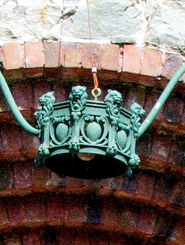 Light fixture over main entrance