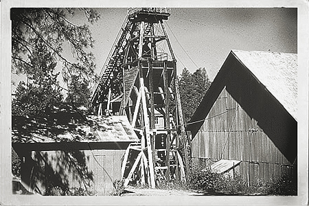 Archive photo of headframe section which has been removed