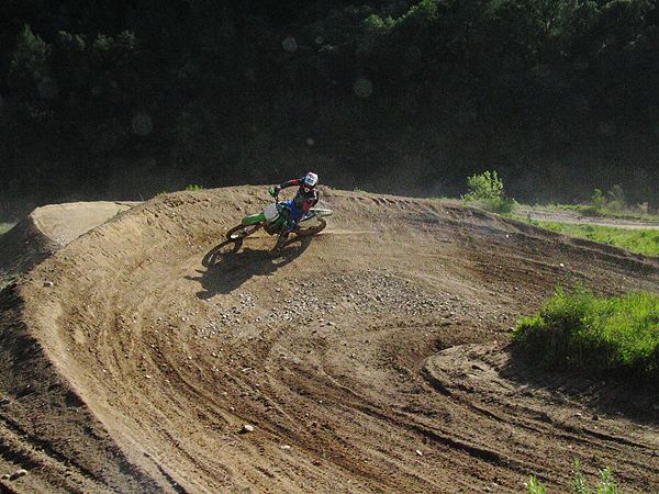 Rider on Berm at Mammoth Bar Off-Highway Vehicle Recreation Area.